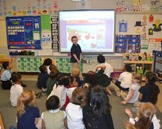 Kids love to interact with smartboard