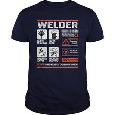Welder caution t shirts and hoodies