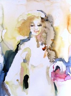 "Saatchi Art Artist Sylvia Baldeva; Painting, ""Actress - watercolor"" #art"