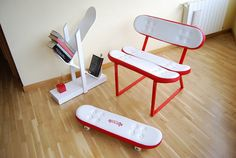 Skateboard furniture by Skate-Home | Design Don't Panic