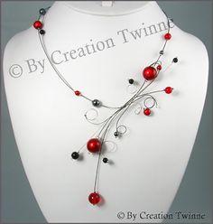 red black necklacebridesmaids gift statement