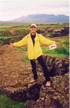 Frédéric Mathieu in Þingvellir National Park Þingvellir, Suðurland- Iceland (07/2003)