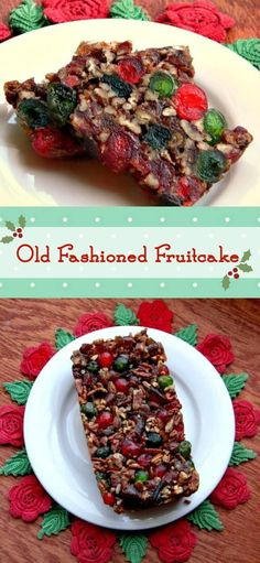 Dark fruitcake full of pecans, candied cherries, candied pineapple, and dates definitely says Christmas! Old Southern recipe that's super easy and totally yummy! Is it candy or is it cake?  From RestlessChipotle.com
