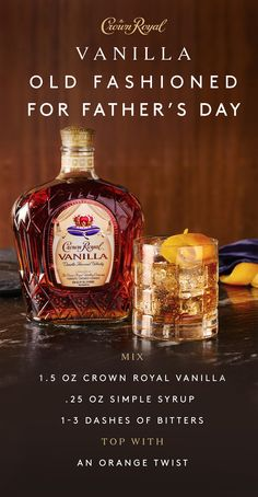 Looking for a thoughtful Father's Day gift? Give him the extraordinary blend of Crown Royal Vanilla, a sophisticated whisky bursting with the bold flavor of vanilla. Enjoy it neat, on the rocks, or in one of our favorite recipes–the Vanilla Old Fashioned. http://juicerblendercenter.com/upgrading-to-a-twin-gear-juicer/