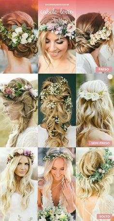 Cabelos com arranjos de flores naturais. - OMG I'm Engaged Cabelos com arranjos de flores naturais. – OMG I'm Engaged … Cabelos com arranjos de flores naturais. – OMG I'm Engaged Cabelos com arranjos de flores naturais. Elegant Wedding Hair, Wedding Hair Flowers, Wedding Hair And Makeup, Flowers In Hair, Perfect Wedding, Bridal Hair, Dream Wedding, Hair Wedding, Wedding Dress