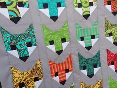 Quilting Blog - Cactus Needle Quilts, Fabric and More: Fancy Fox Quilt; pattern by Elizabeth Hartman.