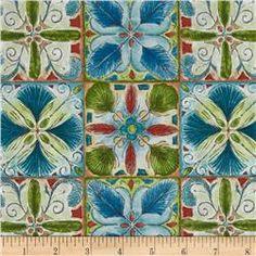 Ornithology Feather Tile Patch Multi