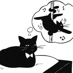 A cat can dream, ya know? Art work by Matt J. Rainwater Check him out on Twitter…