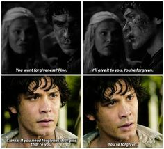 Image via We Heart It https://weheartit.com/entry/168673423 #bellamy #clarke #the100 #bellarke