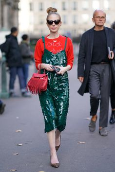 Wear Your New Year's Eve Dress Over a Sweater During the Day