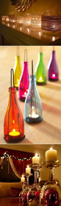 Decoração Casa « Luminárias com velas. Amo