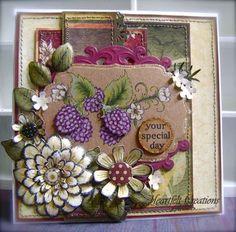 Heartfelt Creations   Purple Ornamental Raspberries & Florals