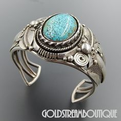 Native American Ben Begaye Navajo Sterling Silver Number 8 Turquoise F – Gold Stream Boutique