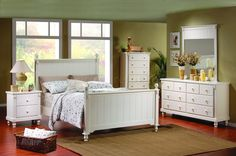 White Solid Wood Bedroom Furniture