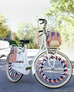 We use to decorate our bikes for the parade as kids