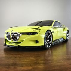 Norev BMW 3.0 CSL Hommage (Dealer Edition) - Lime Green Metallic