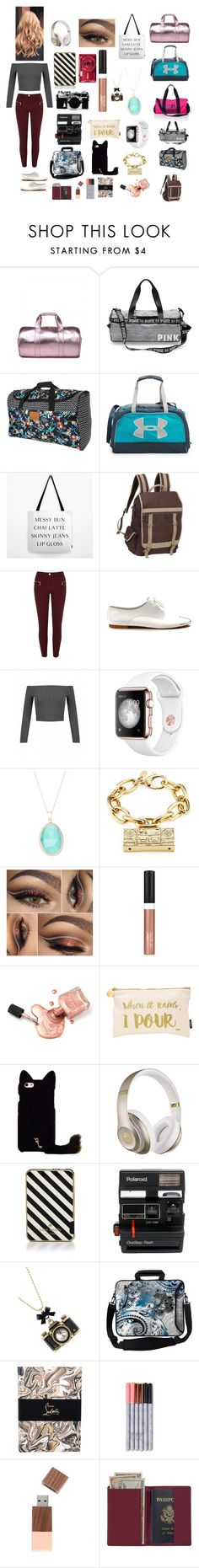 """Chloe Bennet (reporter)"" by karabear3256 ❤ liked on Polyvore featuring Billabong, Under Armour, Preferred Nation, River Island, Shoes of Prey, Moschino, Wet n Wild, Nails Inc., Beats by Dr. Dre and Kate Spade"