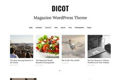 A minimal and clean WordPress theme suitable for blogs and magazine sites. Dicot Magazine WordPress Theme by DesignOrbital (affiliate)