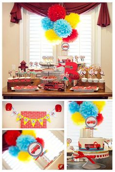 Firetruck, Fire Engine, Fireman Birthday Party Ideas   Photo 7 of 21   Catch My Party
