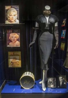 Black cocktail dress owned by Marilyn worn in publicity photos for All About Eve, 1950.
