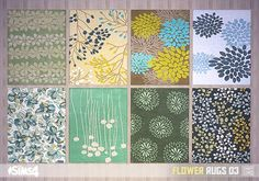 Oh My Sims 4 - Flower rugs
