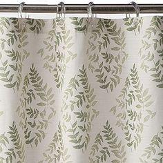 Sonoma Greenville Leaf Sheer Fabric Shower Curtain Botani...