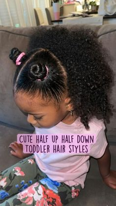 Little Girls Natural Hairstyles, Cute Toddler Hairstyles, Kids Curly Hairstyles, Hairstyles For Black Kids, Mixed Baby Hairstyles, Little Girl Braids, Braids For Kids, Maya, Baby Hair Styles
