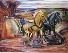 Edvard Munch, Spring Plowing, 1916