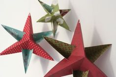Christmas Star Decorations {Free Template & Instructions}