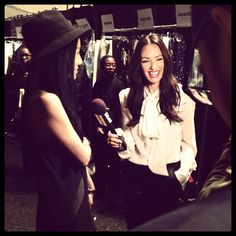 Catt and Vera Wang at #NYFW.  Love this pic!  Photo by @iamcattsadler