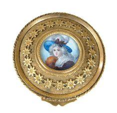 Victorian Portrait Box Antique Miniature Portrait after Madame Vigée LeBrun