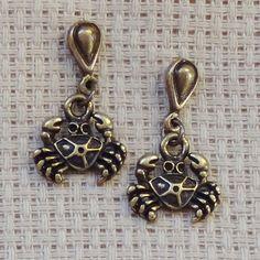 Brincos Crab - Little Crab Earrings | Beat Bijou | Elo7