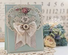 Card Making Ideas by Becca Feeken using Spellbinders Heirloom Oval and Victorian Tags - www.amazingpapergrace.com