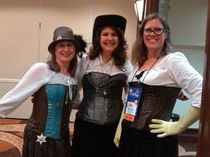 Steampunk Party for Fantasy, Futuristic & Paranormal chapter. RWA 2014.