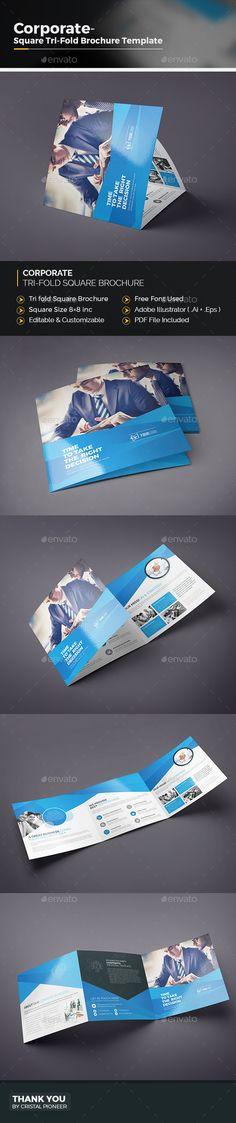 Corporate TriFold Brochures Template   Brochures Brochure