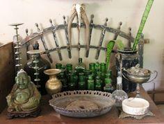 green bottle display Bottle Display, Green, Shop, Furniture, Home Decor, Decoration Home, Room Decor, Home Furnishings, Home Interior Design