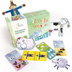 Farmyard Dominoes, great stocking filler from Phoenix Trading. Orchard Toys, Stationery Companies, Farm Yard, Educational Games, Fun Games, Trading Cards, Note Cards, Phoenix, Gaming