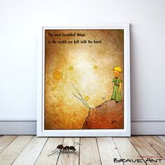 """Little Prince - Quote Print & Printable art - Instant Download  { WHAT'S INCLUDED } - 8"""" x 10"""" 
