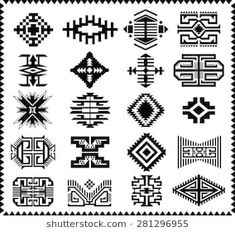 Find Aztec Navajo Indian American Vector Pattern stock images in HD and millions of other royalty-free stock photos, illustrations and vectors in the Shutterstock collection. Native American Patterns, Native American Design, Native Design, Indian Patterns, Tribal Patterns, Aztec Tribal Tattoos, Tribal Art, Navajo Weaving, Hand Weaving