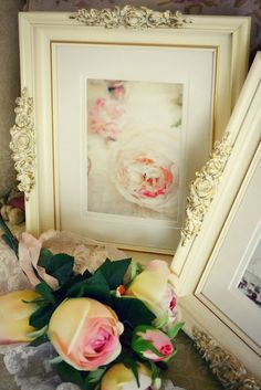 jennelise rose -  ~ GV Tip: glue antique handles from hardware store for dresser drawers to wooden picture frames, spray paint frames, handles