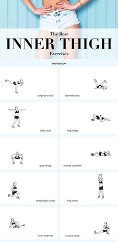 The best exercises to slim down, sculpt and tighten your inner thighs! Slim inner thighs aren't built in a day. It takes a lot of cardio, all the right moves and the perfect amount of persistence to get strong, fit thighs that look fabulous! Show your inner thighs some love with these 10 exercises and get your dream legs in no time!
