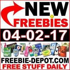 ►► NEW FREEBIE HOTLIST – FREE Stuff for April 2, 2017 ►► #Free, #FREESample, #FREEStuff, #Freebie, #Frugal, #FrugalLiving, #HOTLIST, #Samples ►►