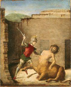 585. Cima da Conegliano - Teseo uccide il Minotauro - 1505 - Milano, Museo Poldi Pezzoli