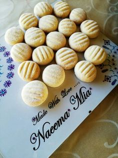 Semolina Biscuits recipe by Naeema Mia posted on 02 Jun 2017 . Recipe has a rating of by 5 members and the recipe belongs in the Biscuits & Pastries recipes category Biscuit Cookies, Biscuit Recipe, Shortbread Cookies, Halal Recipes, Gourmet Recipes, Lebanese Recipes, Semolina Cookie Recipe, Pastry Recipes, Cookie Recipes