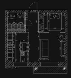 Холостяцкая студия в Калининграде, 40 м² – Красивые квартиры