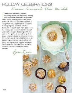 Truffles with nuts and coconut