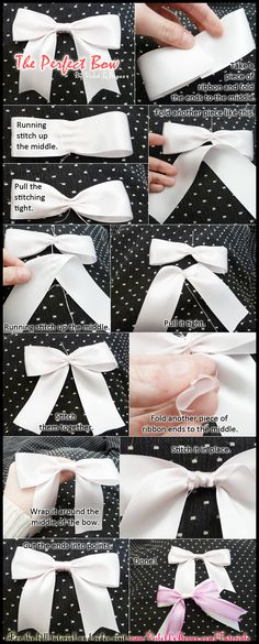 Simple tutorial on getting the perfect ribbon bow every time.   Original full tutorial over here: http://www.violetlebeaux.com/2010/08/tutorial-making-simple-ribbon-bows-_/