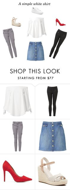 """""""A Simple White Shirt"""" by pinkfalmingo on Polyvore featuring Witchery"""