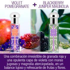 ¡Mezcla Violet Pomegranate con Blackberry Juniper Magnolia para un delicioso aroma floral frutal! #JAFRABlends http://jafra.me/3c5q
