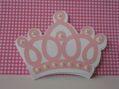 convite coroa de princesa
